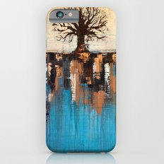 Abstract Tree - Teal and Brown Landscape Painting Slim Case iPhone 6s