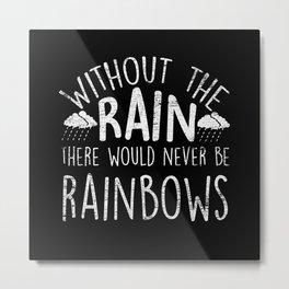 Rain Rainbow Metal Print