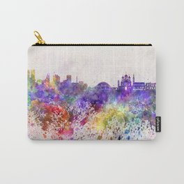 Tallinn skyline in watercolor background Carry-All Pouch