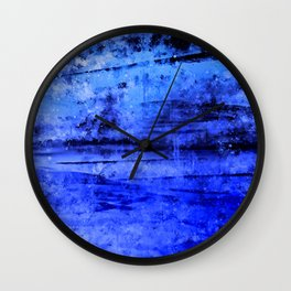 psychedelic sky clouds pattern wsdbi Wall Clock