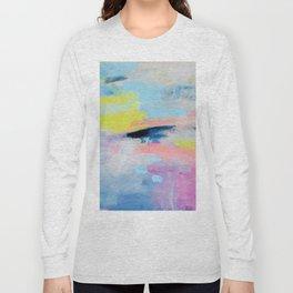 Dreamy Abstract pink Art  Long Sleeve T-shirt