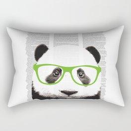 Panda with glasses Rectangular Pillow