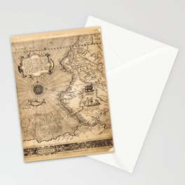Map of Western South America (1569) Stationery Cards