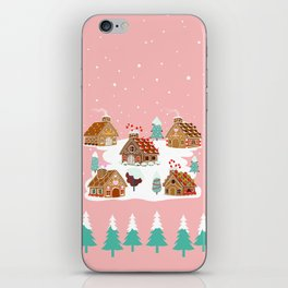 Gingerbread Village iPhone Skin