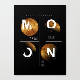 moon in the night Canvas Print