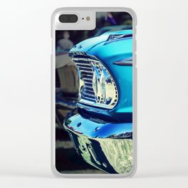 Classic Car: Circa 1960's Turquoise Clear iPhone Case