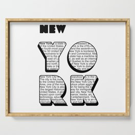 New York in writing Serving Tray