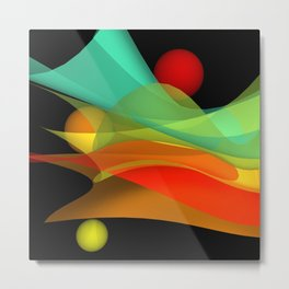 bicubic waves -4- Metal Print