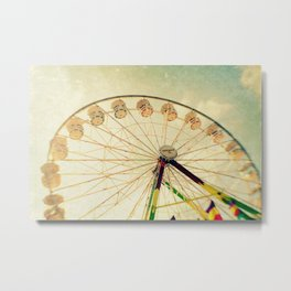 funtastic wheel Metal Print