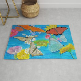 Butterfly dance Rug