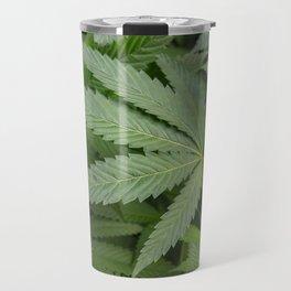 Pot Leaf on a Plant Travel Mug