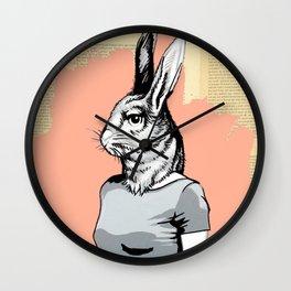 Rabbit Head Wall Clock