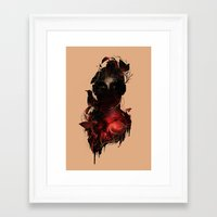 universe Framed Art Prints featuring Universe Inside by nicebleed