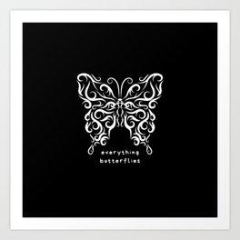 Everything Buterflies Art Print