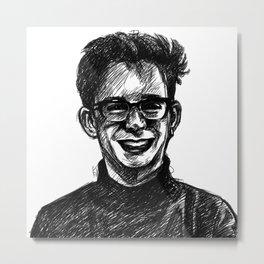 Sketchy Ethan Metal Print
