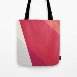 Shades Of Red And Gray Modern Abstract Pattern Tote Bag
