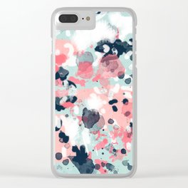 Jilly - modern abstract gender neutral canvas art print large scale abstract painting Clear iPhone Case
