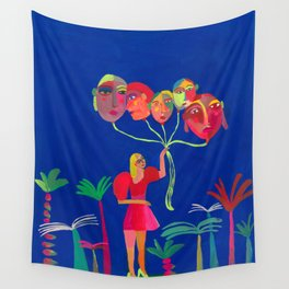 Walking thoughts Wall Tapestry