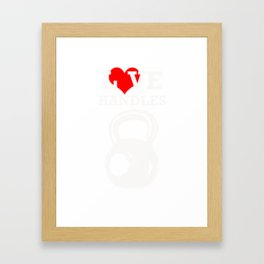 Gym Workout and Exercise Kettlebell  Print Framed Art Print