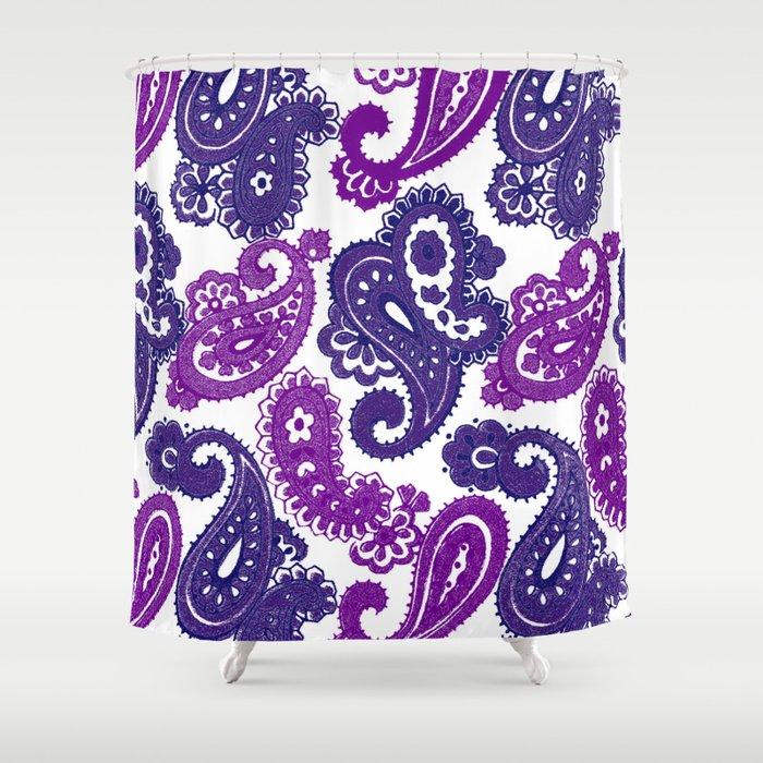 Fun Purple Paisley Shower Curtain