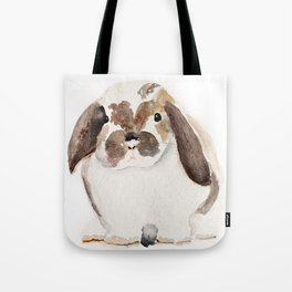 Bunny Watercolor (Flop Eared Bunny) Tote Bag
