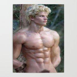 Blonde Nude ADONIS Poster