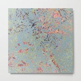 Sage Pine leaves Abstract Pattern Metal Print