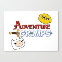 game grumps Canvas Prints featuring Adventure Grumps by ChrisBryer