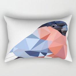 Geometric  bullfinch burd art Pink gray Rectangular Pillow