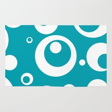 Circles Dots Bubbles :: Turquoise Rug