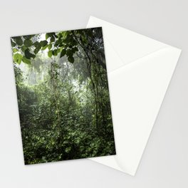 Dark Green Vines Hanging in the Misty Rainforest of Nicaragua at the Chocoyero-El Brujo Nature Reser Stationery Cards