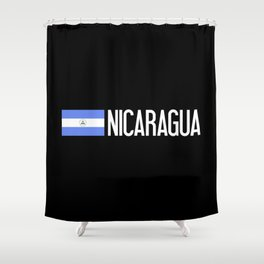 Nicaraguan Flag & Nicaragua Shower Curtain