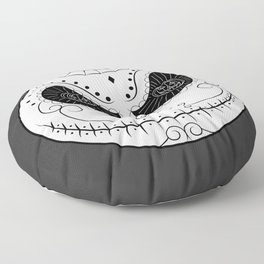 Jack's Skull Sugar (Vector Mexican Skull) Floor Pillow
