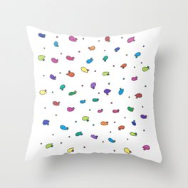 Rainbow Bean Sprouts Throw Pillow