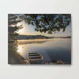 Sunrise on Lake Clare Metal Print
