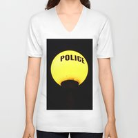 police V-neck T-shirts featuring police state? by TheEngineered
