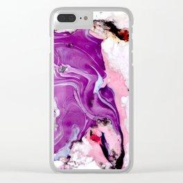 purple splurge Clear iPhone Case