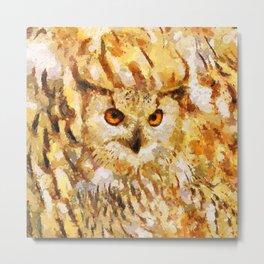 Great Real Owl Metal Print