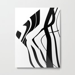 Organic No.4 Black & White #design #society6 #artprints Metal Print
