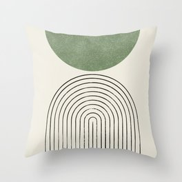 Arch balance green Throw Pillow