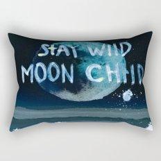 Stay wild moon child (dark) Rectangular Pillow