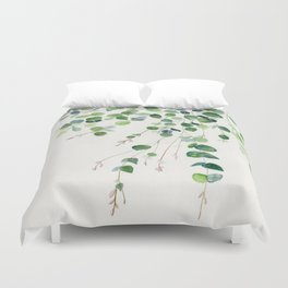 Eucalyptus Watercolor Duvet Cover
