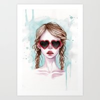 lolita Art Prints featuring Lolita by Black Fury