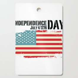 1776 4th of July Independence Day Gift Cutting Board