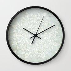 Powder Blue Mandala Wall Clock