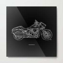 SUZUKI VZR 1800 2011, Original Handmade Drawing Metal Print
