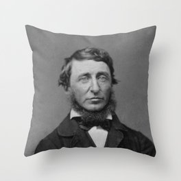 Benjamin Maxham - portrait of Henry David Thoreau Throw Pillow
