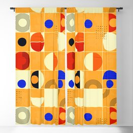 Mid-century abstract no3 Blackout Curtain