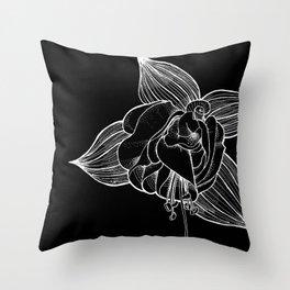 Fuchsia flower in bloom Throw Pillow
