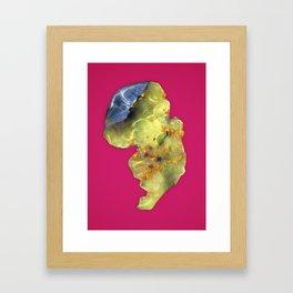 Squished Blueberry Framed Art Print